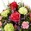 Blumenstrauß  Schön, dass es Dich gibt mit Geburtstagsküchlein