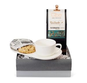 Geschenkset Cookies and Coffee in Weiss, Grau und Braun
