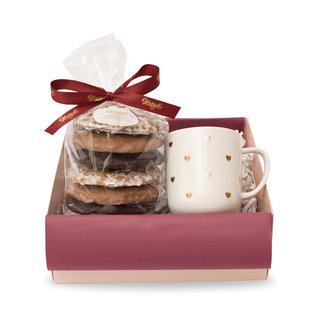 Geschenkset Kleine Geste zur Weihnachtszeit in Rosa und Braun