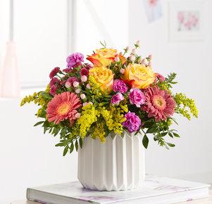 Blumenstrauß Kleiner Trost in Gelb, Pink und Lila