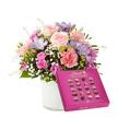 Blumenstrauß  Blumenkuss Größe M mit Lindt Pralinés