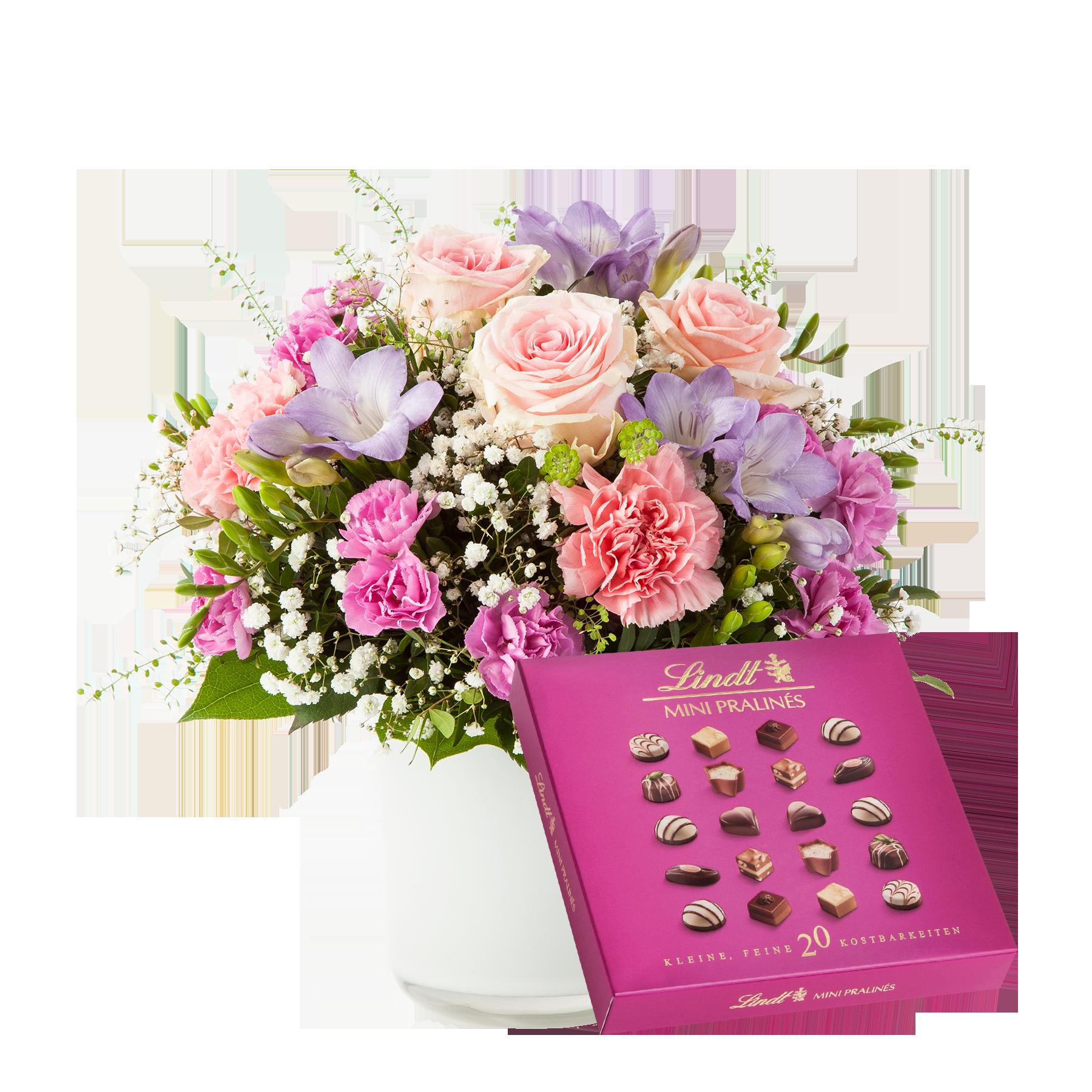 #Blumenstrauß Blumenkuss mit Lindt Pralinés#