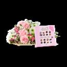 Blumenstrauß Blumenglück Größe M mit Lindt Mini Pralinés Nur für Dich