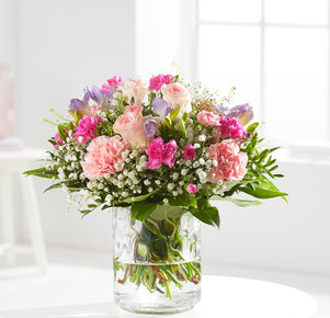 Blumenstrauß Beste Genesung in Weiss, Rosa, Pink und Lila