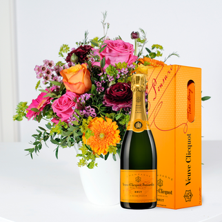 Happy Birthday to You mit Champagner Veuve Clicquot