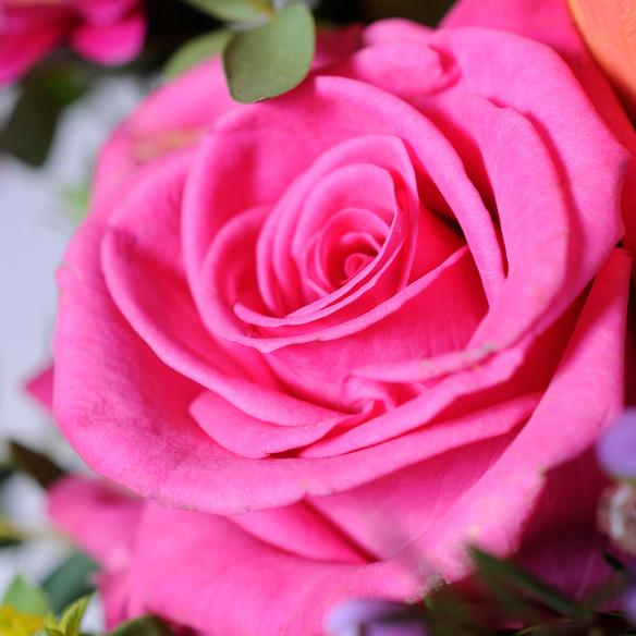 Blumenstrauß  Happy Birthday to You mit Champagner Veuve Clicquot