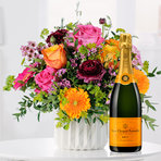Blumenstrauß  Happy Birthday to You mit Champagner Veuve Clicquot