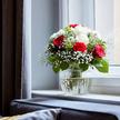Blumenstrauß  Only for You Größe M mit Schriftzug Lieblingsmensch