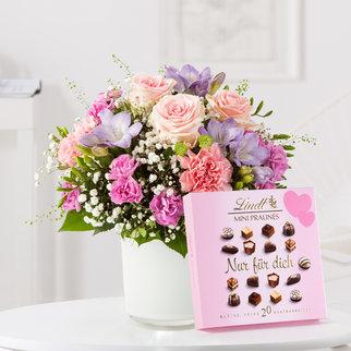 Blumenkuss mit Lindt Pralinés Nur für Dich