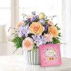 Blumenstrauß  Ostertraum mit Lindt Pralinen Frohe Ostern