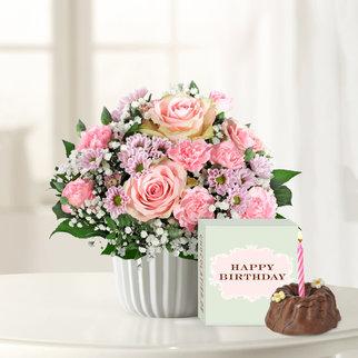 Alles Liebe mit Geburtstagsküchlein