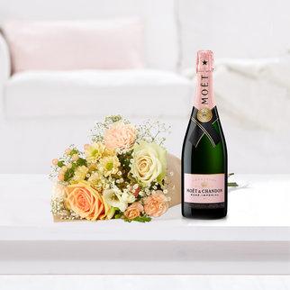 Kleines Glück mit Champagner Moet & Chandon Impérial Rosé 0,75 l