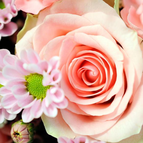 Blumenstrauß  Alles Liebe mit Mini Sachertorte