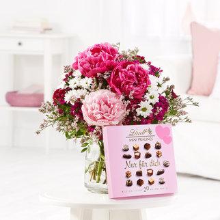 Blütentraum Lindt Mini Pralinés Nur für Dich