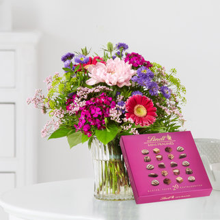 Flower Power mit Lindt Mini Pralinés