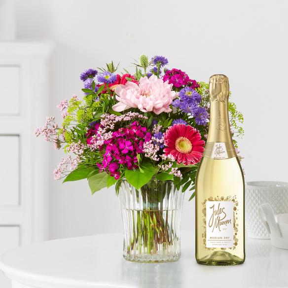 Blumenstrauß  Flower Power mit Jules Mumm