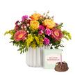 Blumenstrauß  Spiel der Farben M mit Geburtstagsküchlein mit Kerze