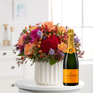 Beauty of Indian Summer mit Champagner Veuve Clicquot