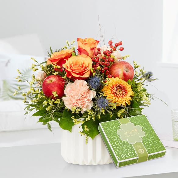 Blumenstrauß Für Dich viel Glück mit GRATIS Lindt Viel Glück