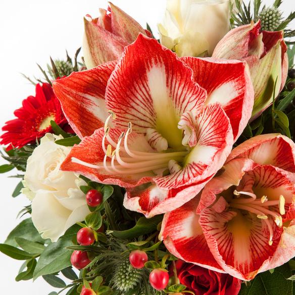 Blumenstrauß  Amarylliszauber mit Lebkuchen Schmidt