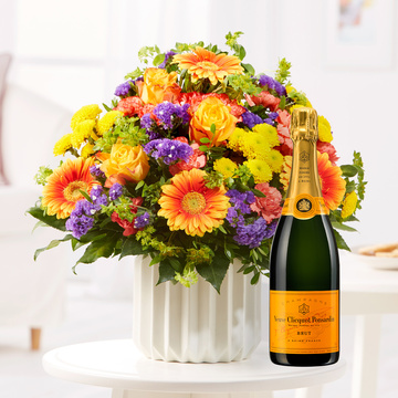 Happy Birthday L mit Champagner Veuve Clicquot