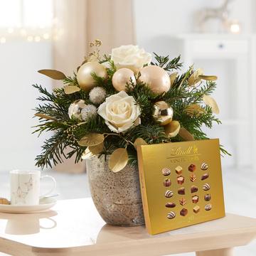 Weihnachtsgruß mit Lindt Mini Pralinés Goldedition