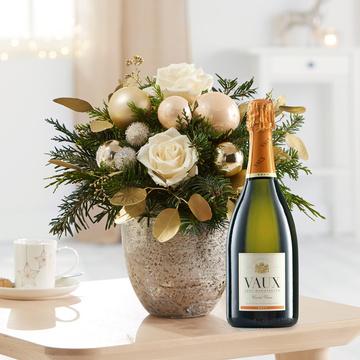 Weihnachtsgruß mit Sekt Vaux Cuvée Brut