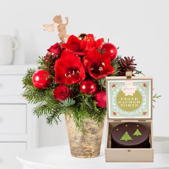 Engelszauber mit weihnachtlicher Mini Sachertorte
