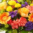 Blumenstrauß  Happy Birthday Größe M mit Sekt Happy Birthday