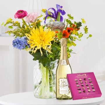 Neujahrsglück mit Lindt Mini Pralinés und Sekt Jules Mumm