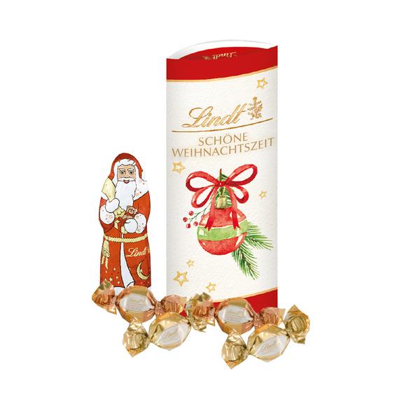 Zuckerhutfichte Loved by Santa mit Lindt Frohes Fest Schokoladenmix