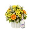 Blumenstrauß  Geburtstagsüberraschung mit Piccolo Happy Birthday