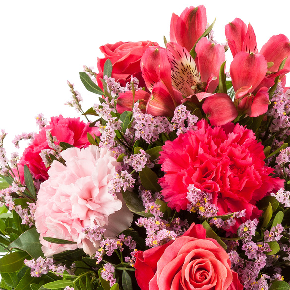 Blumenstrauß  Glücksbote mit Mini Sachertorte