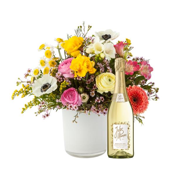 Blumenstrauß  Blumentraum mit Sekt Jules Mumm