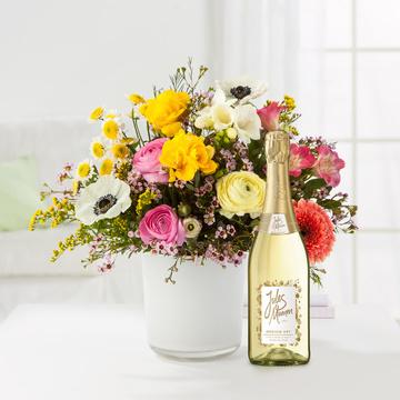 Blumentraum mit Sekt Jules Mumm