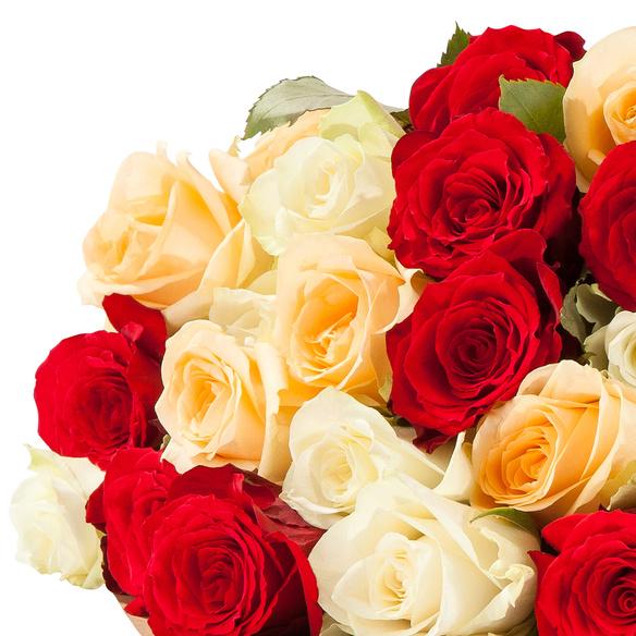 Rosenstrauß  Rosen für Dich mit La Praline Gothenburg mit Meersalz