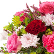 Blumenstrauß  Schön, dass es Dich gibt mit Teelicht und Geburtstagspiccolo