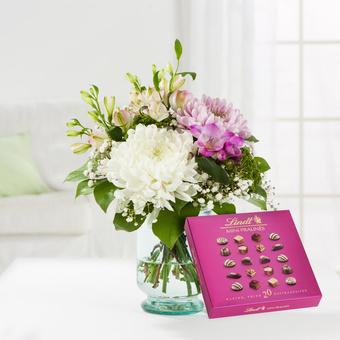 Blumenfreude mit Lindt Mini Pralinés