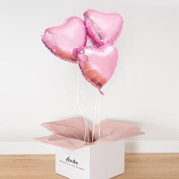 Ballonstrauß Rosa Herzen