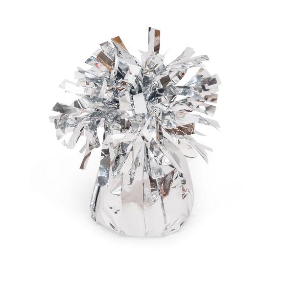 Geschenkset  Ballonstrauß Silberne Herzen