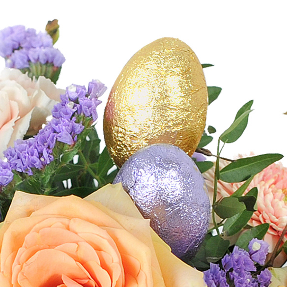 Blumenstrauß  Ostertraum mit Hachez Ostergruß
