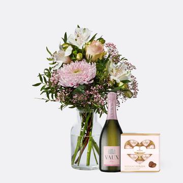 Freude für Dich mit Niederegger Nougat Herzen und Sekt VAUX Rosé Brut