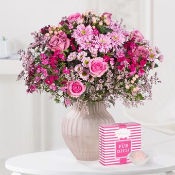 Traumhaft pink Größe L mit Pink Champagner Truffes Für Dich