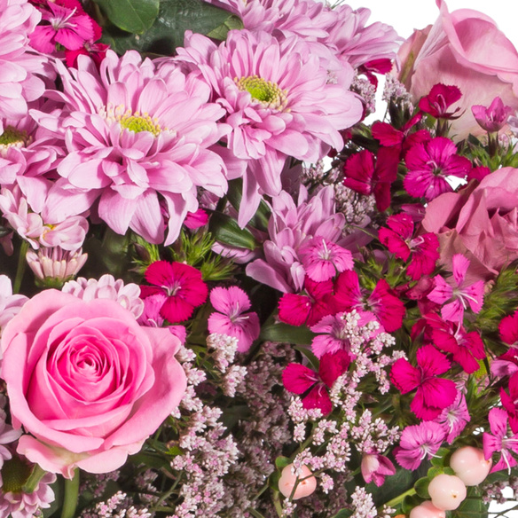 Wiesenstrauß  Traumhaft pink Größe M mit Lindt Herz