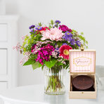 Flower Power mit Mini Sachertorte