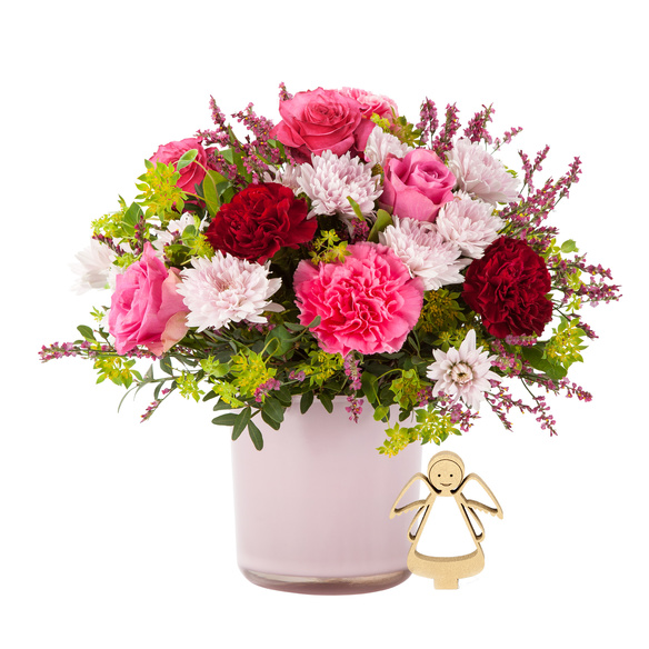 Blumenstrauß  Schön, dass es Dich gibt mit Engel
