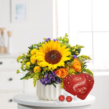 Sonnengruß mit Lindt Lindor Herz