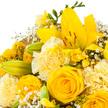 Wiesenstrauß  Gruß für Dich mit GRATIS Dr. Oetker Zitronenküchlein