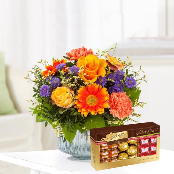 Blumenstrauß  Herbstsinfonie mit Ferrero Die Besten