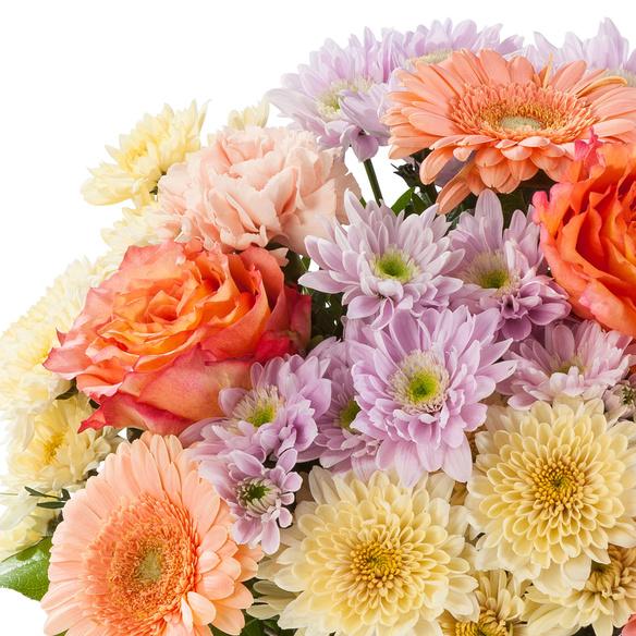Blumenstrauß  Blütenpracht Größe M mit Mini Sacherorte